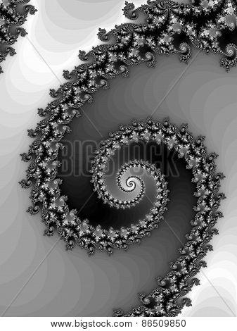 Black - white fractal spiral