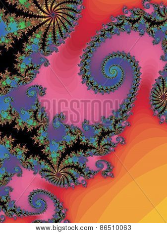 Graceful fractal background