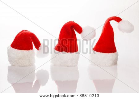 Three Christmas Hats Santa Row