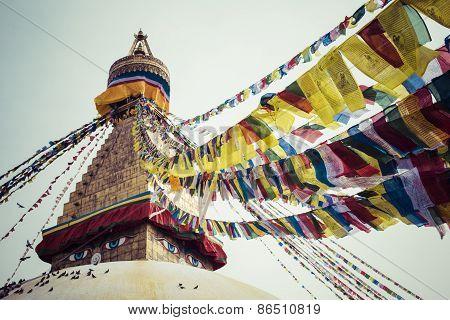 Boudhanath Is A Buddhist Stupa In Kathmandu, Nepal.