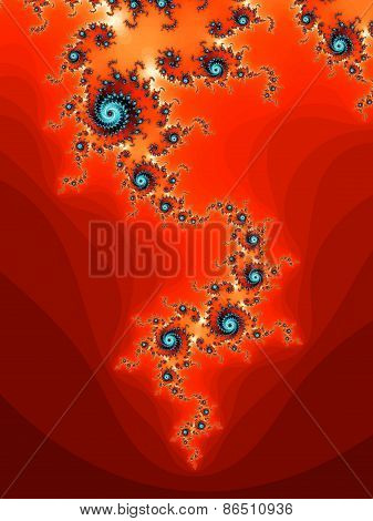 Red fractal background