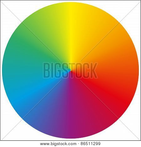 Isolated Circular Rainbow Gradient