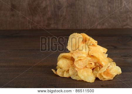pile of kettle cooked potato chips