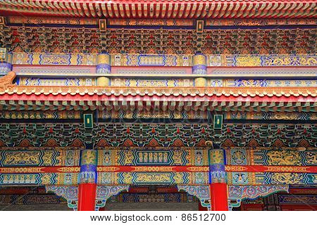 Closeup Chinese Temple Architecture