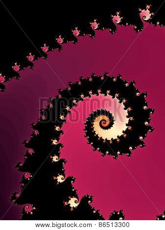 Decorative fractal background