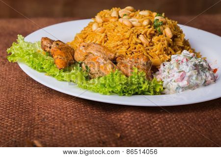 Eastern food. Arab food