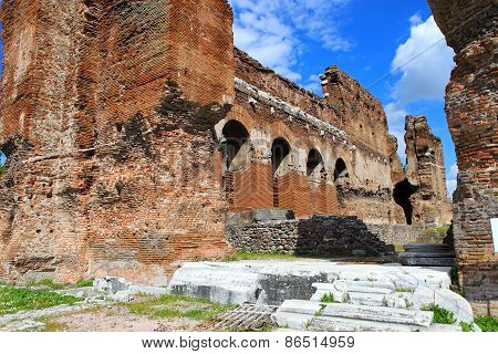 The Red Hall.temple Of The Egyptian Gods, Bergama / Turkey
