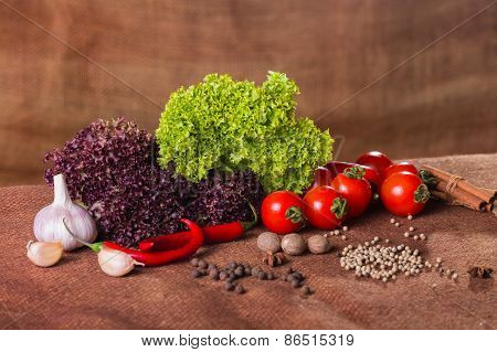 Fresh ripe vegetables