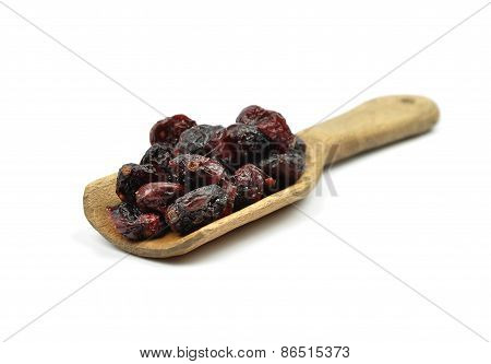 Dried Cranberries On Shovel