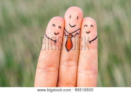 Happy Three Fingers