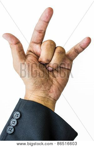 Businessman Hand In White Background