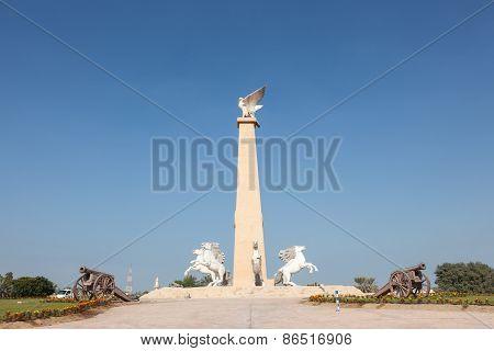 Roundabout Statue In Umm Al Quwain
