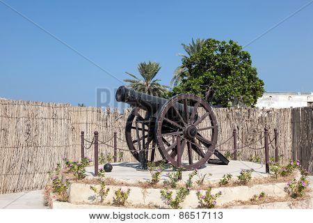 Historic Cannon In Umm Al Quwain