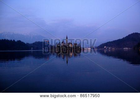 Assumption Church,on The Lake Bled, Slovenia