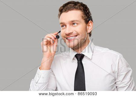 Confident Customer Service Representative.