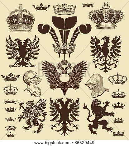 Vector. Heraldic elements