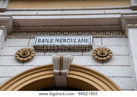 Decorate the entrance of the railway station Herculane