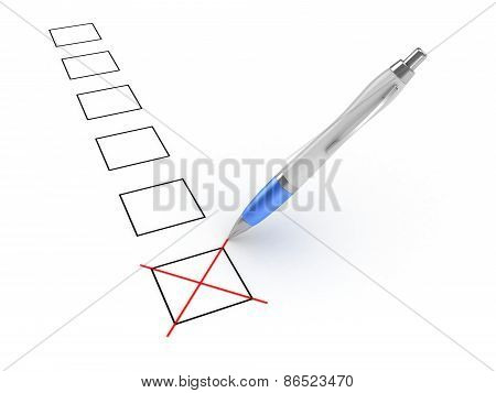 Pen And Checkboxes