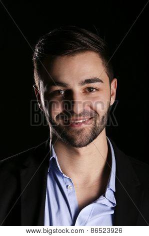 casual young fashion man model portrait