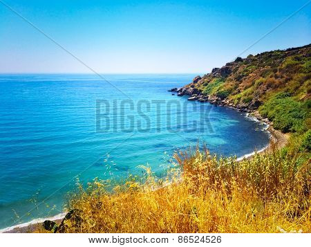 Spanish Landscape With Blue Sea And Rocky Coast