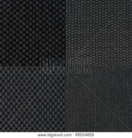Set Of Black Fabric Samples