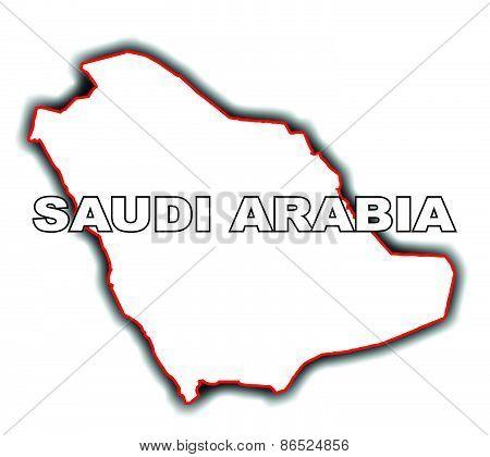 Outline Map Of Saudi Arabia