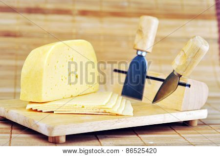Wooden Plate And Knives