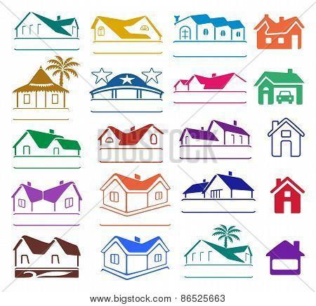 Buildings Signs Logo Set