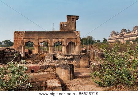 Old Ruins Near Orchha Palace
