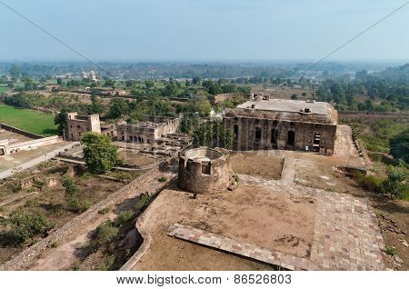 View On Old Ruins From Jahangir Mahal Or Orchha Palace