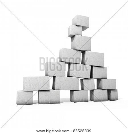 Concrete blocks to keep balance