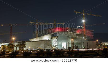 Construction At Night