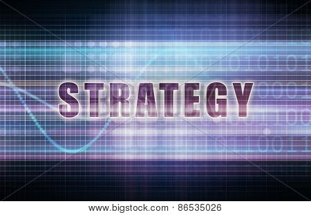 Strategy on a Tech Business Chart Art