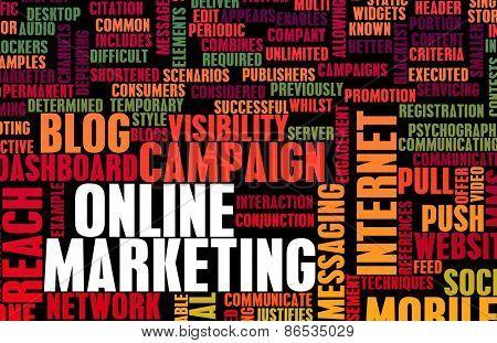 Online Marketing as a Brand Technology Concept Art