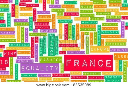 France as a Country Abstract Art Concept