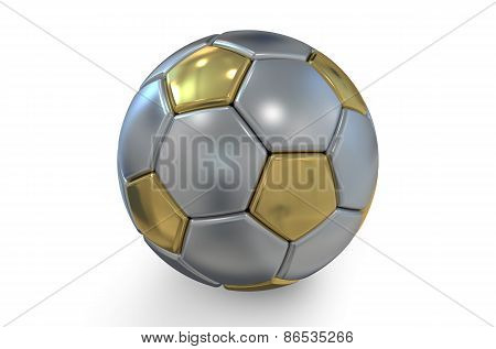 Golden And Silver Soccer Ball