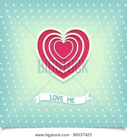 Pulsed heart symbol