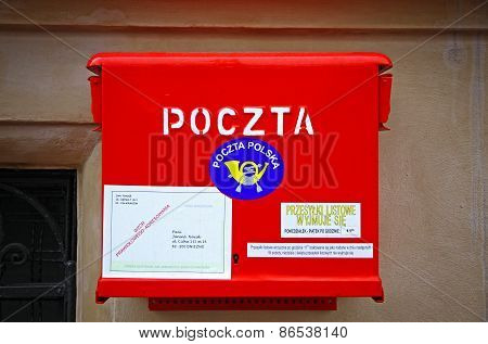 Polish National Post Red Mailbox