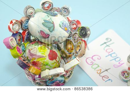 Handmade Decoupage Easter Eggs