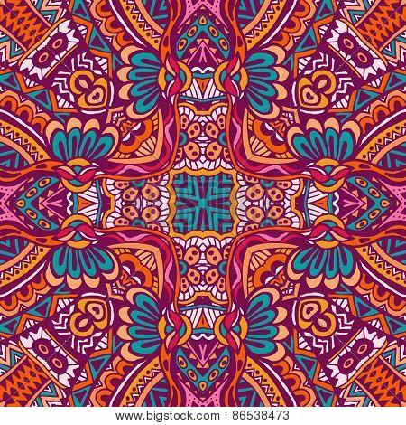 Festival Colorful ethnic seamless design