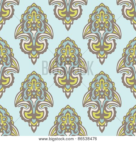 Seamless damask pattern vector design