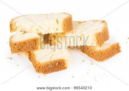 Broken Piece Of Cake And Crumbs