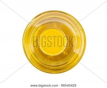 Bottle Of Vegetable Oil, Top View