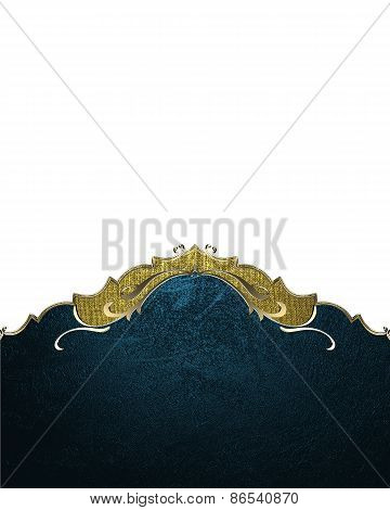 Element For Design. Template For Design. Blue With Gold Trim Element On White Background