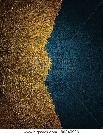 Element For Design. Template For Design. Gold And Blue Texture. Abstract Background