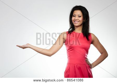 Girl Mixed Race Holding Open Palm