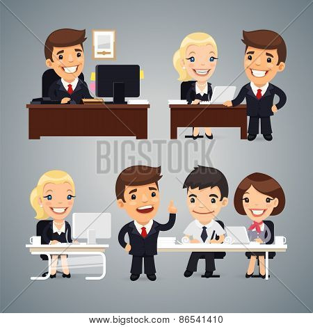 Businessmen at the Table Teamwork