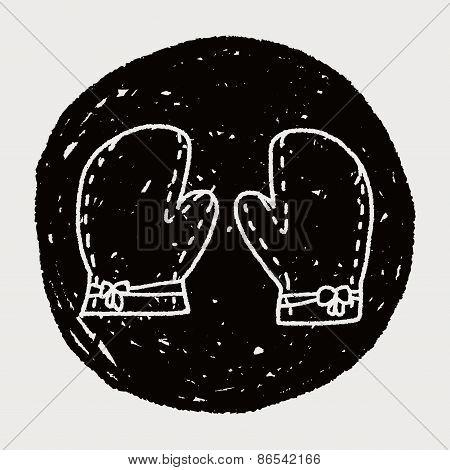Doodle Kitchen Gloves