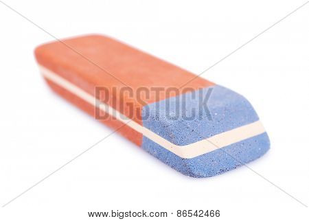 Eraser isolated on white