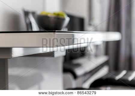 Deatil Of Modern Black And White Table